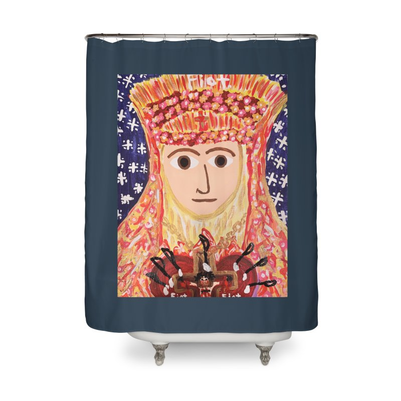 Queenship of Mary Home Shower Curtain by Mary Kloska Fiat's Artist Shop