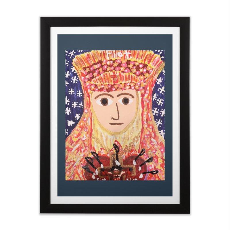 Queenship of Mary Home Framed Fine Art Print by Mary Kloska Fiat's Artist Shop