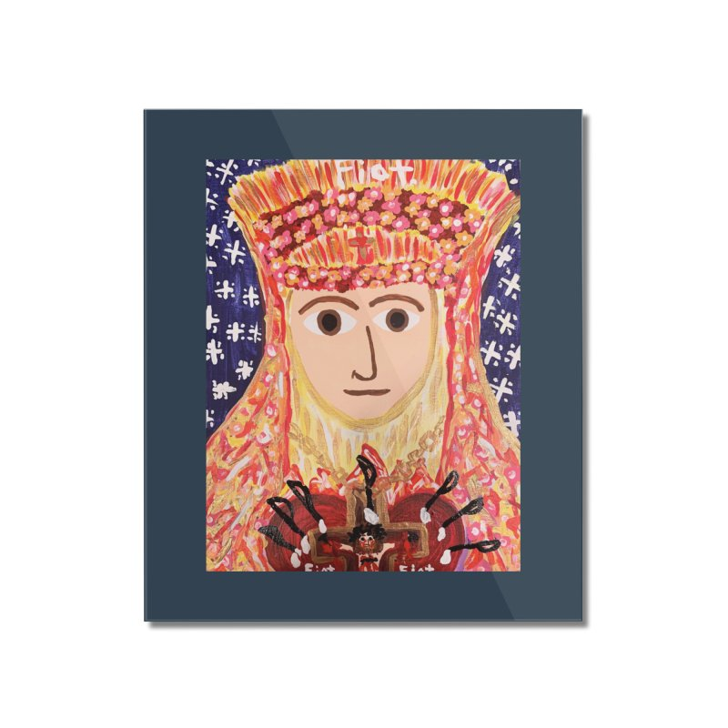 Queenship of Mary Home Mounted Acrylic Print by Mary Kloska Fiat's Artist Shop