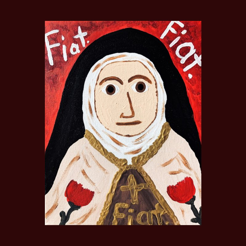 St. Theresa of Lisieux Home Bath Mat by Mary Kloska Fiat's Artist Shop