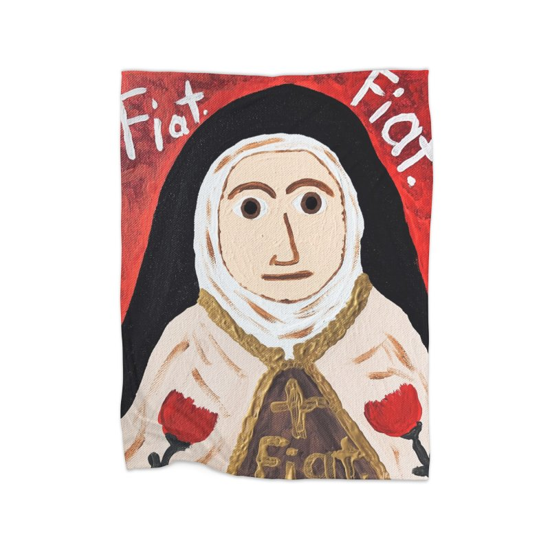 St. Theresa of Lisieux Home Blanket by Mary Kloska Fiat's Artist Shop