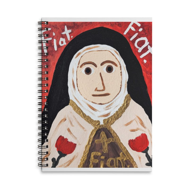 St. Theresa of Lisieux Accessories Notebook by Mary Kloska Fiat's Artist Shop