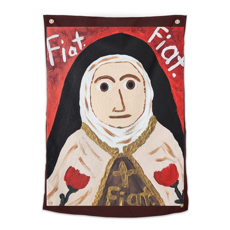 St. Theresa of Lisieux Home Tapestry by Mary Kloska Fiat's Artist Shop