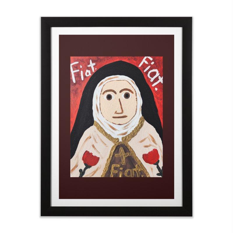 St. Theresa of Lisieux Home Framed Fine Art Print by Mary Kloska Fiat's Artist Shop