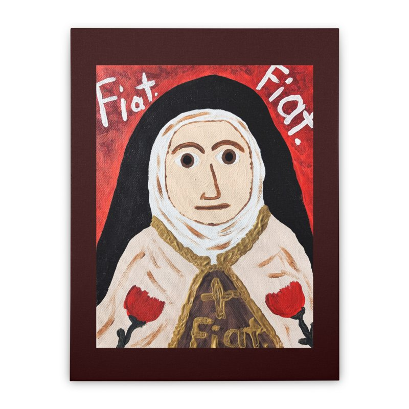 St. Theresa of Lisieux Home Stretched Canvas by Mary Kloska Fiat's Artist Shop