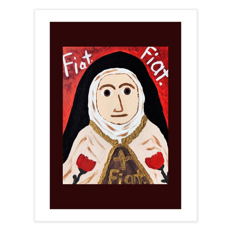 St. Theresa of Lisieux Home Fine Art Print by Mary Kloska Fiat's Artist Shop