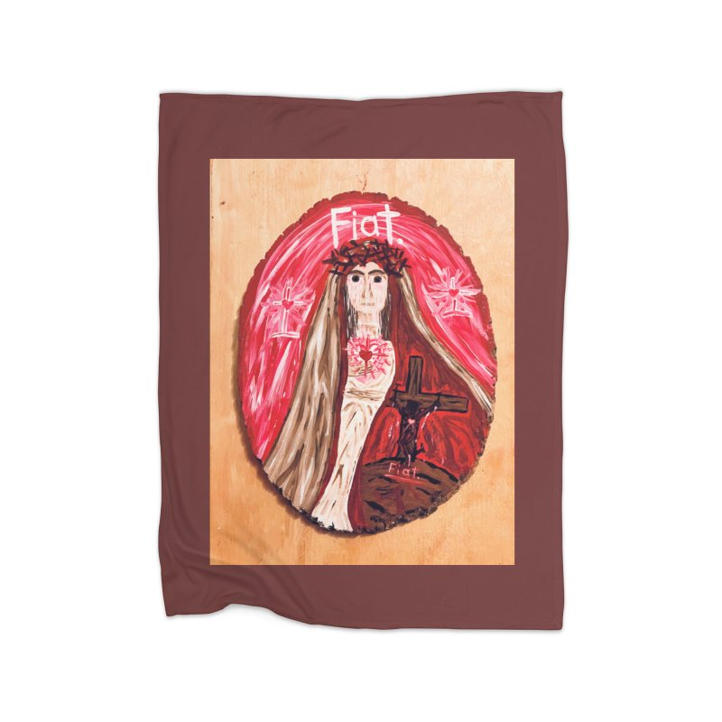 Sorrowful Mother -Bride of Christ Home Blanket by Mary Kloska Fiat's Artist Shop