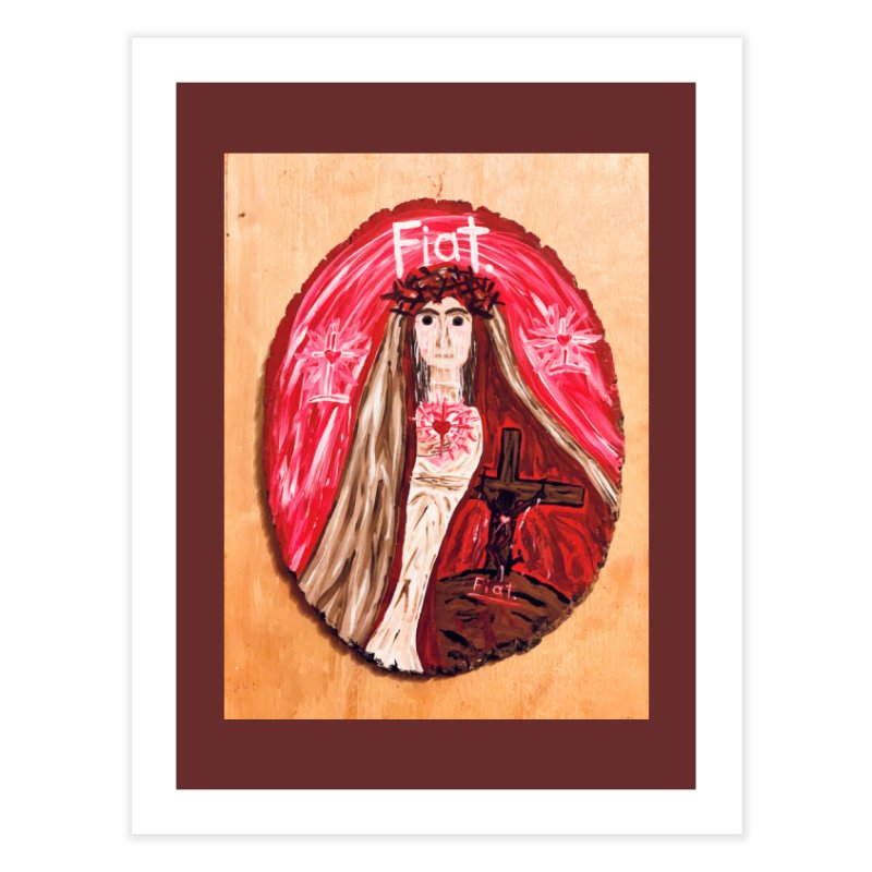 Sorrowful Mother -Bride of Christ Home Fine Art Print by Mary Kloska Fiat's Artist Shop