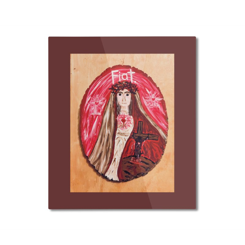 Sorrowful Mother -Bride of Christ Home Mounted Aluminum Print by Mary Kloska Fiat's Artist Shop