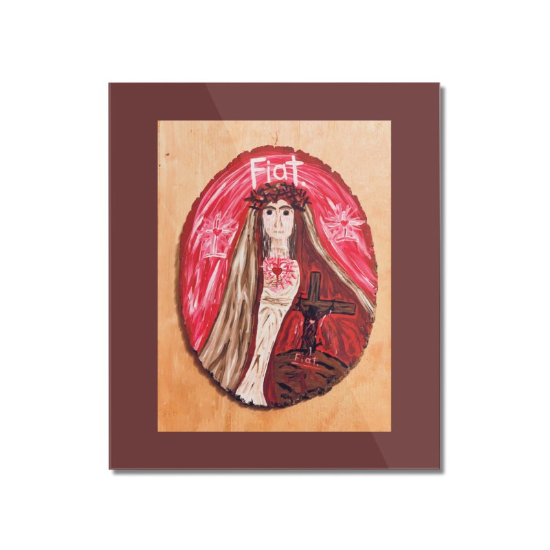 Sorrowful Mother -Bride of Christ Home Mounted Acrylic Print by Mary Kloska Fiat's Artist Shop