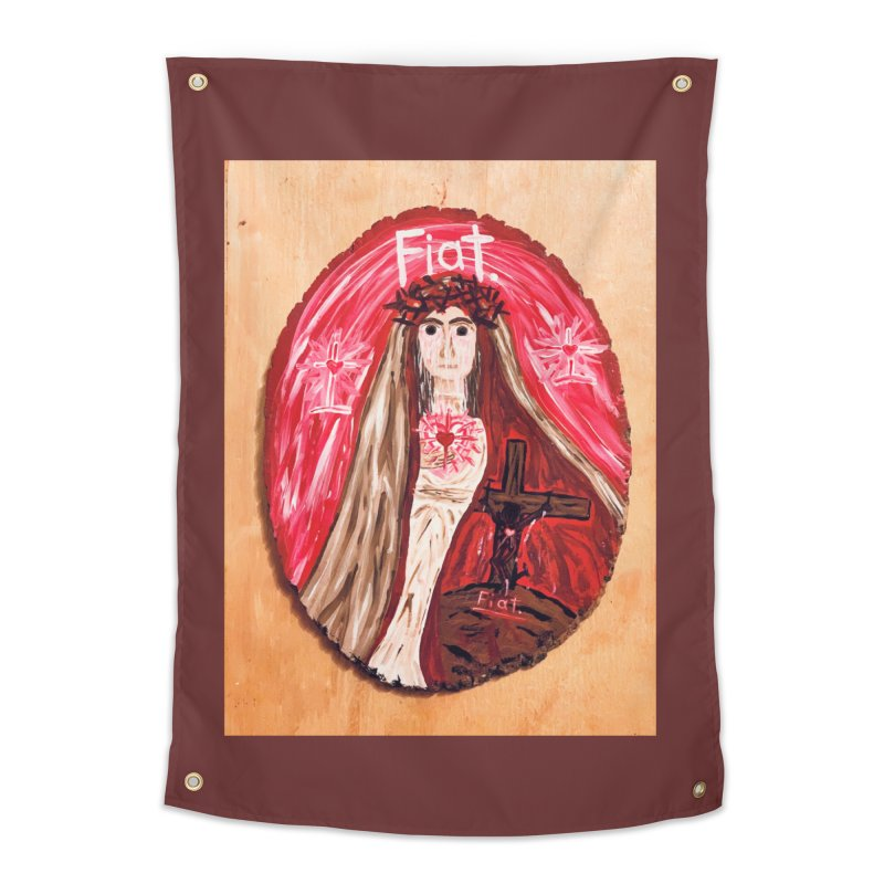 Sorrowful Mother -Bride of Christ Home Tapestry by Mary Kloska Fiat's Artist Shop