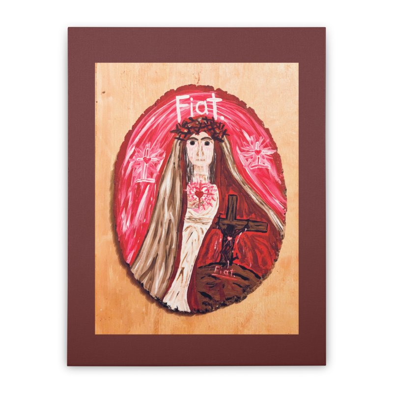 Sorrowful Mother -Bride of Christ Home Stretched Canvas by Mary Kloska Fiat's Artist Shop