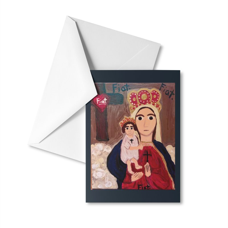 Our Lady of Good Remedy Accessories Greeting Card by Mary Kloska Fiat's Artist Shop