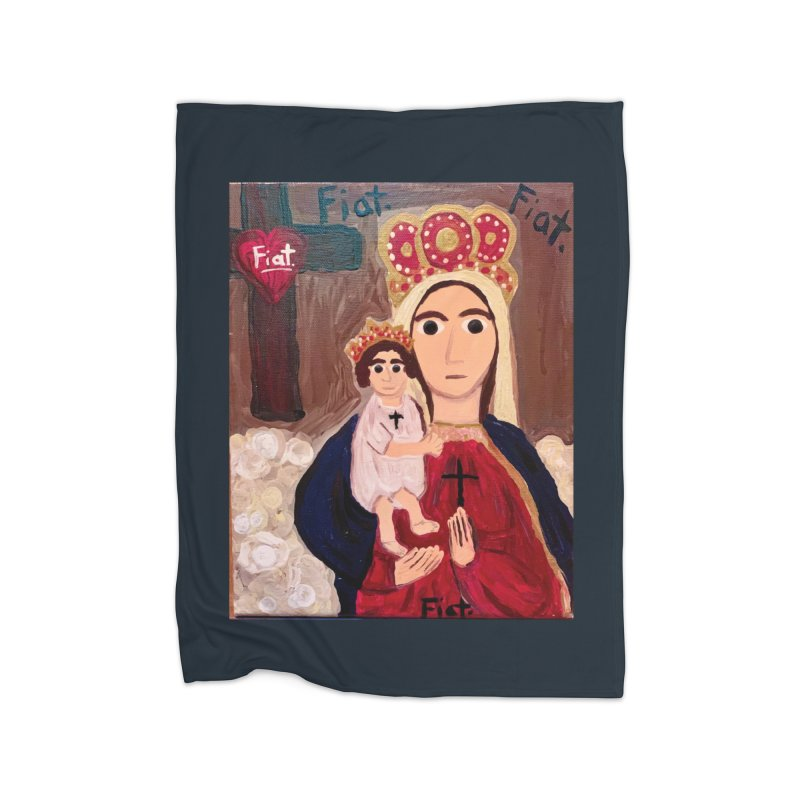 Our Lady of Good Remedy Home Blanket by Mary Kloska Fiat's Artist Shop