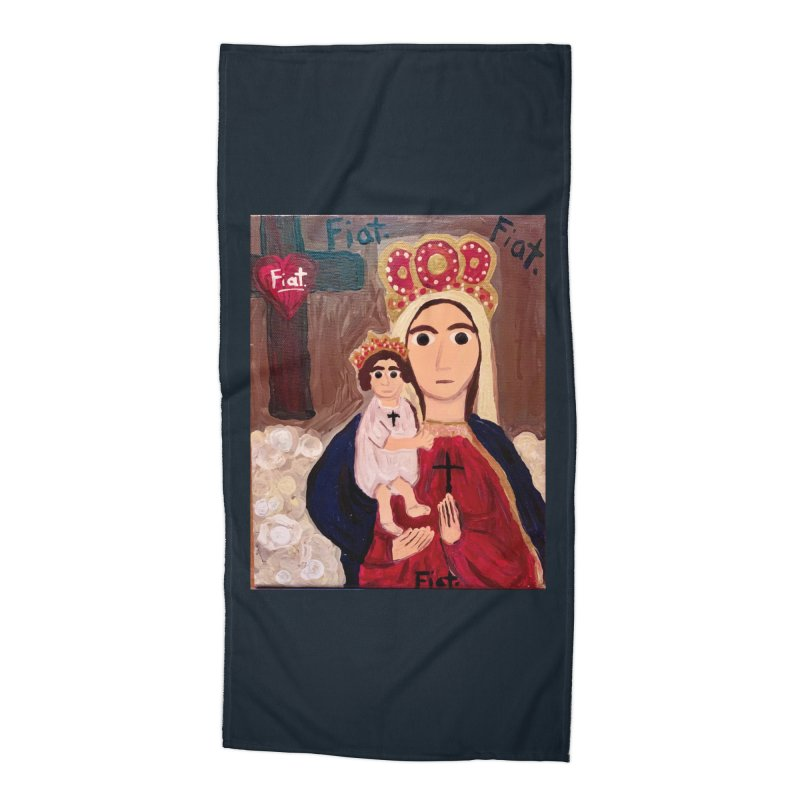Our Lady of Good Remedy Accessories Beach Towel by Mary Kloska Fiat's Artist Shop