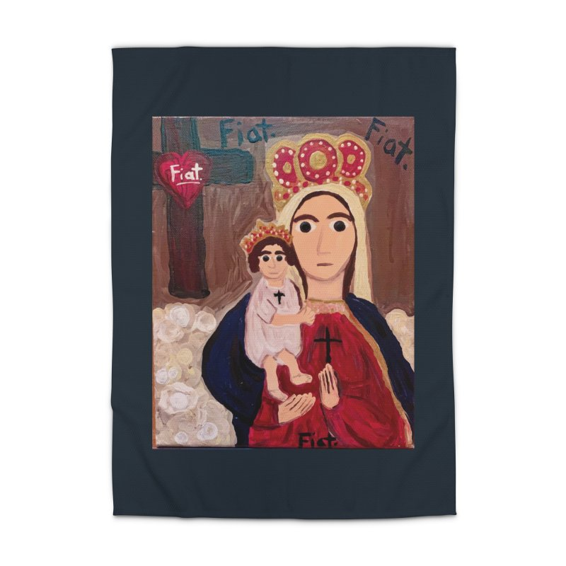 Our Lady of Good Remedy Home Rug by Mary Kloska Fiat's Artist Shop