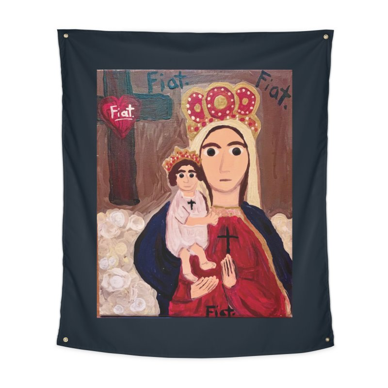 Our Lady of Good Remedy Home Tapestry by Mary Kloska Fiat's Artist Shop