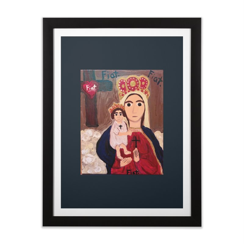 Our Lady of Good Remedy Home Framed Fine Art Print by Mary Kloska Fiat's Artist Shop