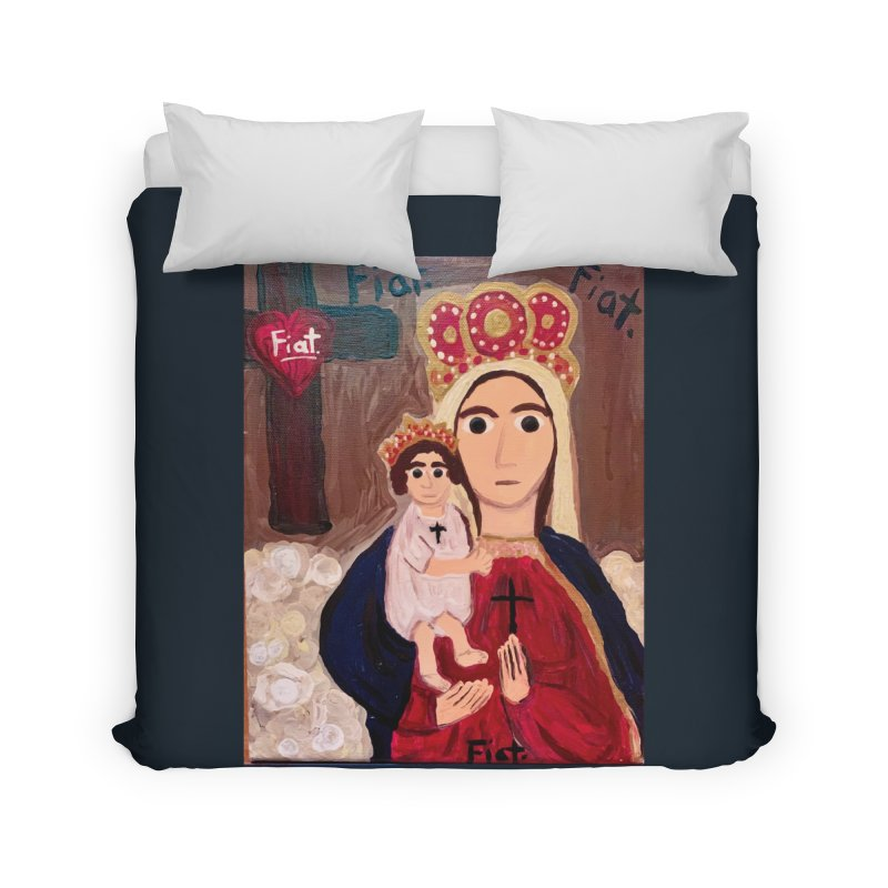 Our Lady of Good Remedy Home Duvet by Mary Kloska Fiat's Artist Shop