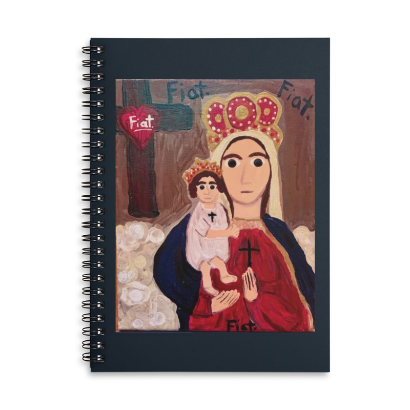 Our Lady of Good Remedy Accessories Notebook by Mary Kloska Fiat's Artist Shop