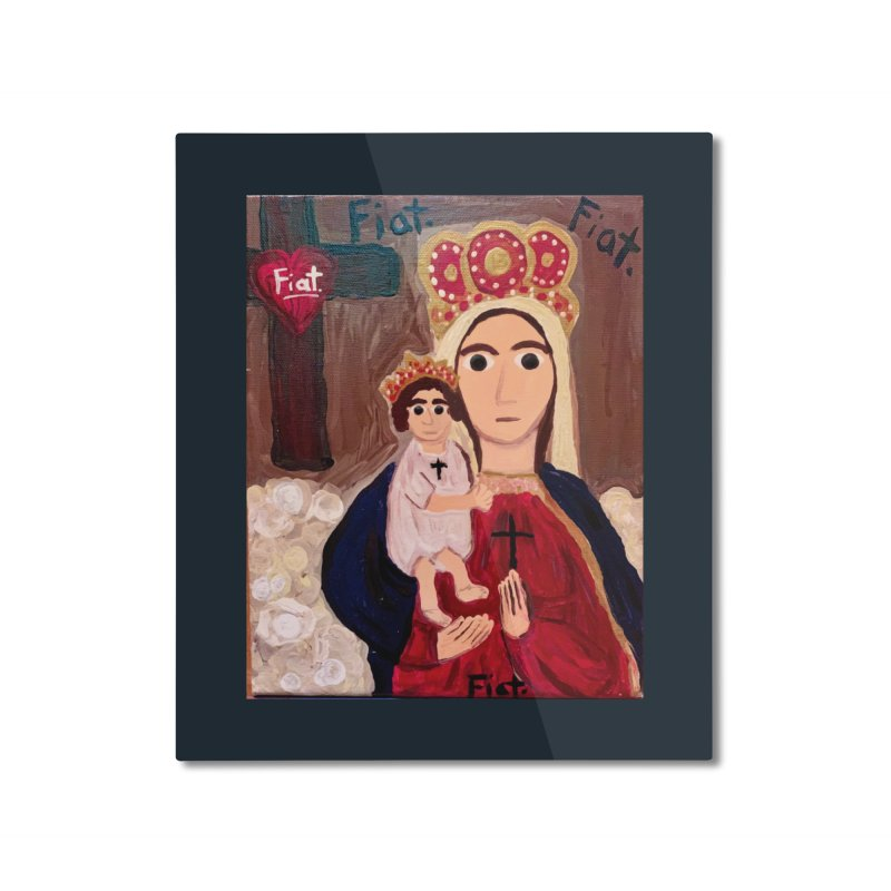 Our Lady of Good Remedy Home Mounted Aluminum Print by Mary Kloska Fiat's Artist Shop