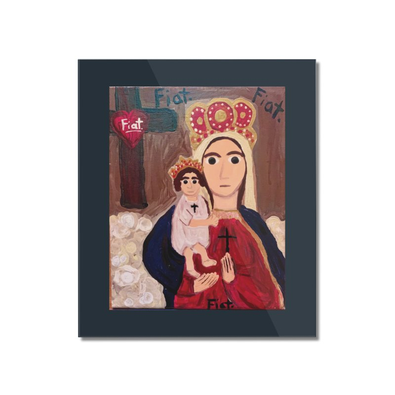 Our Lady of Good Remedy Home Mounted Acrylic Print by Mary Kloska Fiat's Artist Shop