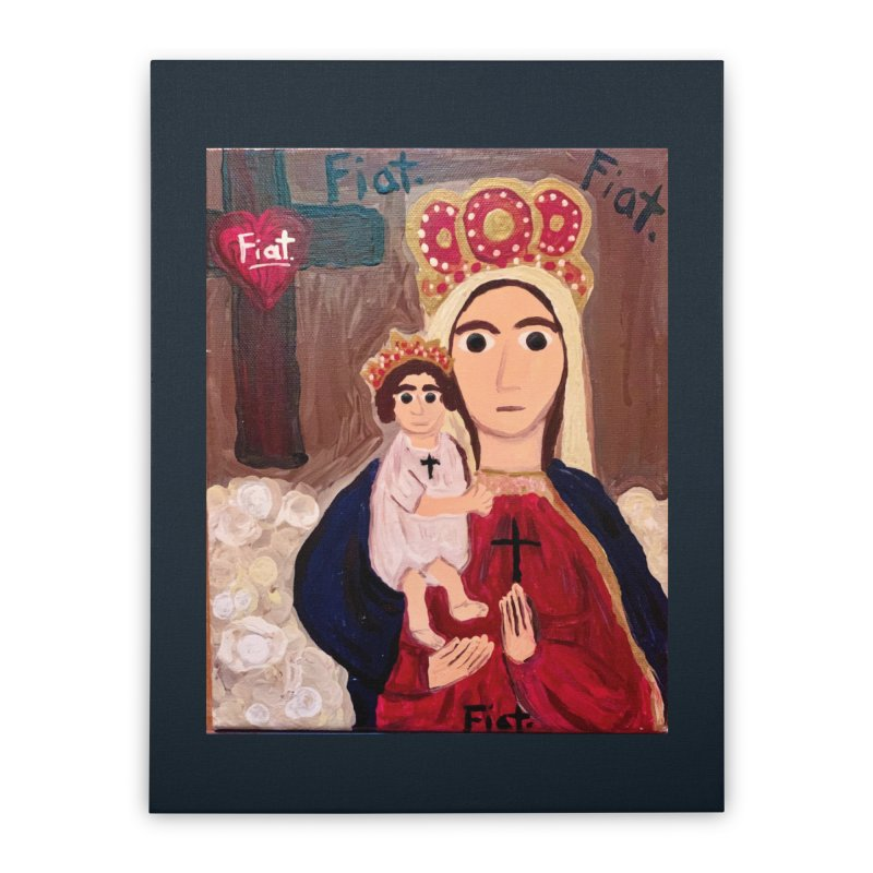Our Lady of Good Remedy Home Stretched Canvas by Mary Kloska Fiat's Artist Shop
