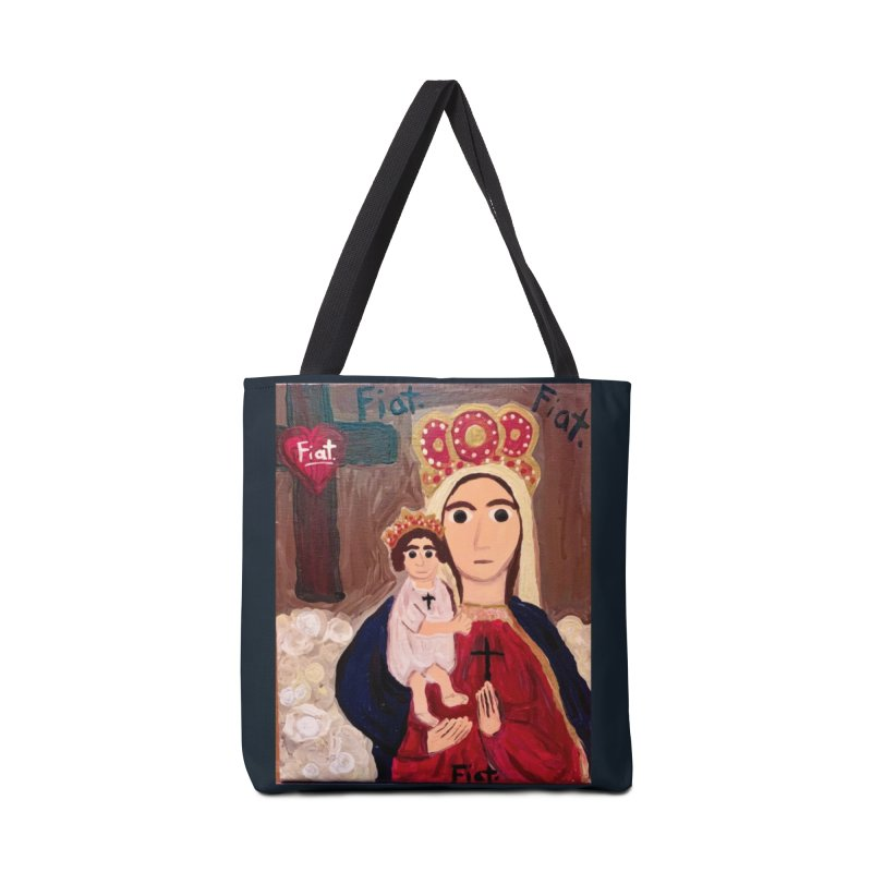 Our Lady of Good Remedy Accessories Bag by Mary Kloska Fiat's Artist Shop