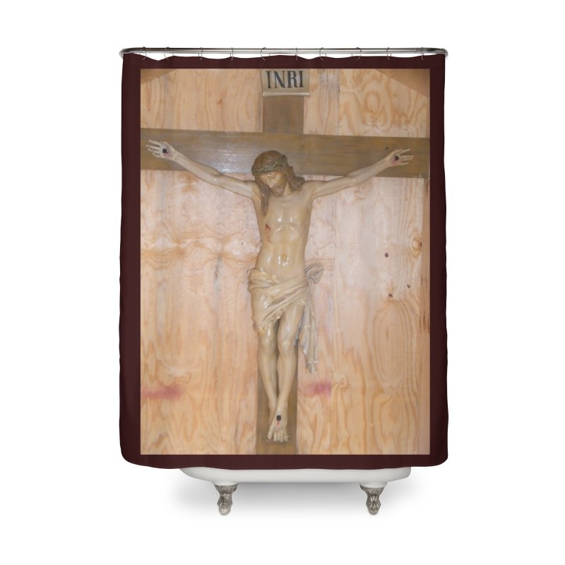 Hermitage Cross Home Shower Curtain by Mary Kloska Fiat's Artist Shop