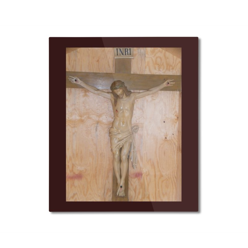Hermitage Cross Home Mounted Aluminum Print by Mary Kloska Fiat's Artist Shop