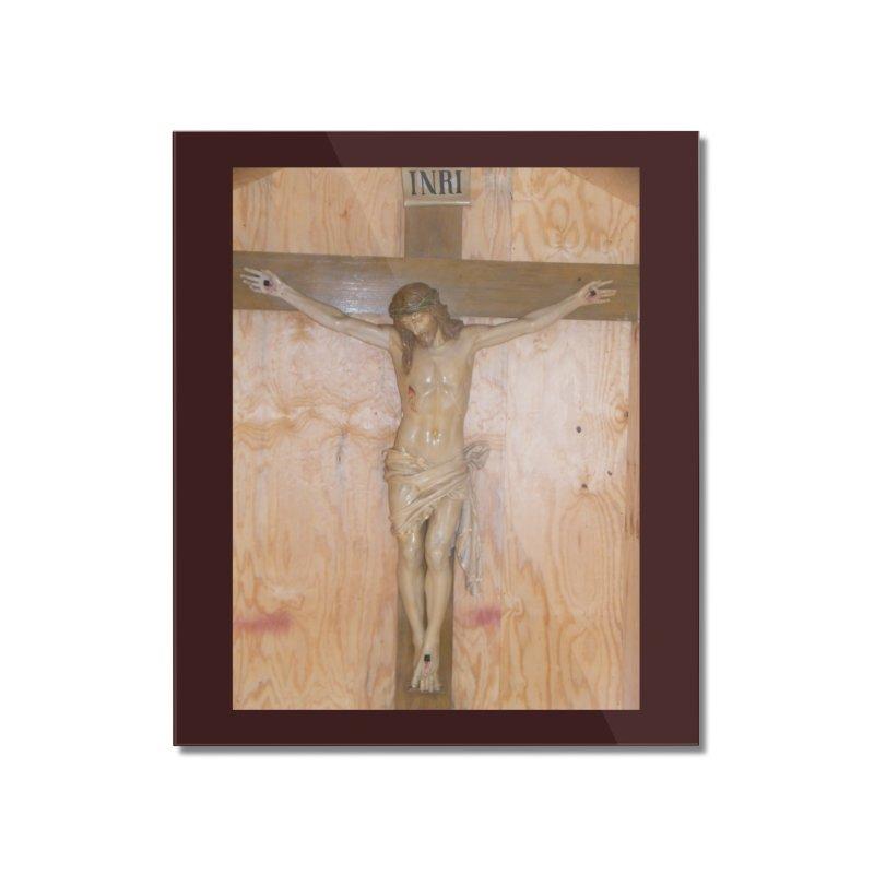 Hermitage Cross Home Mounted Acrylic Print by Mary Kloska Fiat's Artist Shop