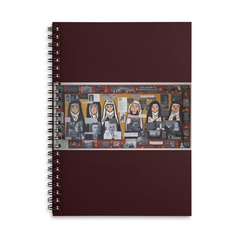 Carmelite Saints -one Accessories Notebook by Mary Kloska Fiat's Artist Shop