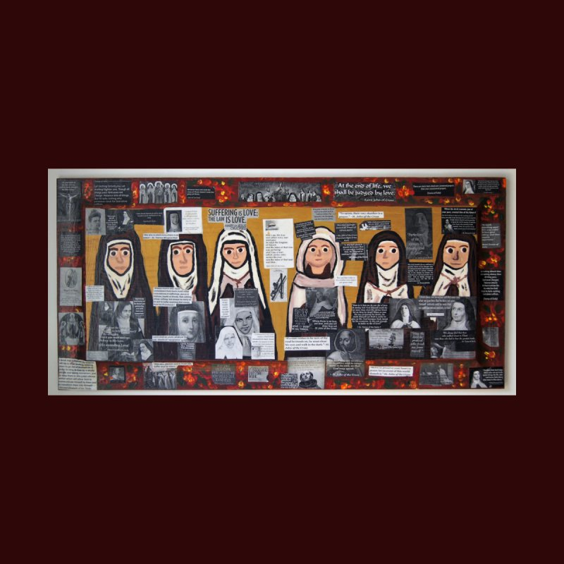 Carmelite Saints -one Home Fine Art Print by Mary Kloska Fiat's Artist Shop