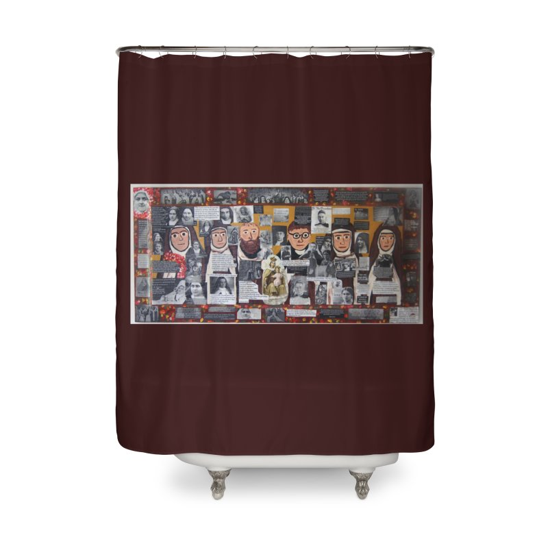 Carmelites -two Home Shower Curtain by Mary Kloska Fiat's Artist Shop
