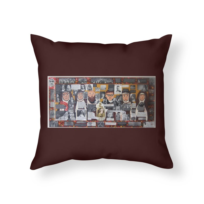 Carmelites -two Home Throw Pillow by Mary Kloska Fiat's Artist Shop