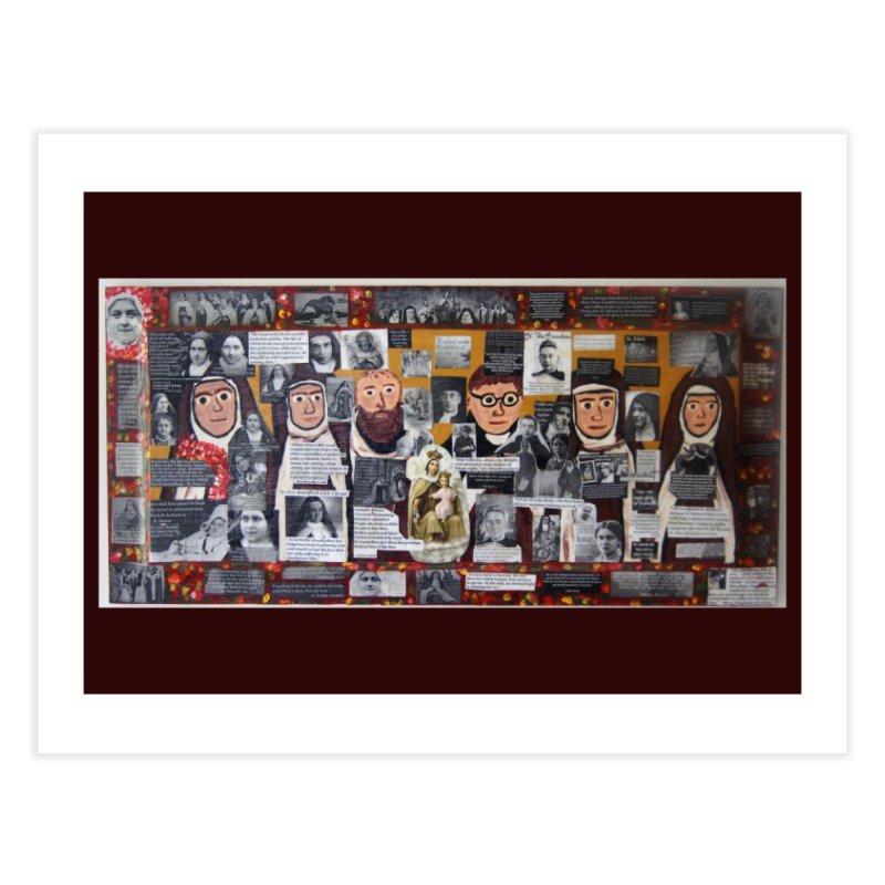 Carmelites -two Home Fine Art Print by Mary Kloska Fiat's Artist Shop