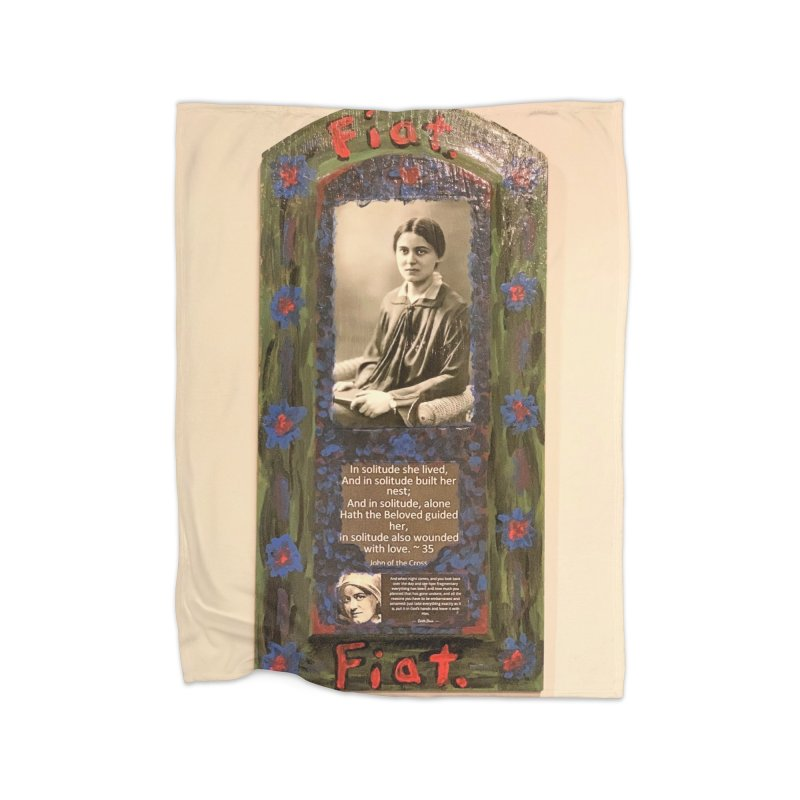 St. Edith Stein -Solitude Home Blanket by Mary Kloska Fiat's Artist Shop