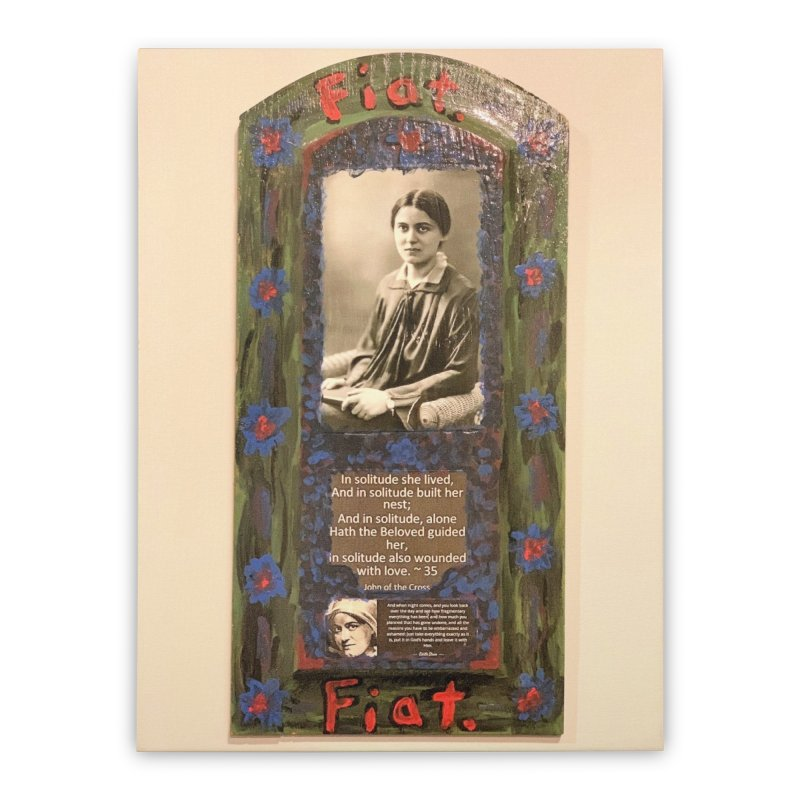 St. Edith Stein -Solitude Home Stretched Canvas by Mary Kloska Fiat's Artist Shop