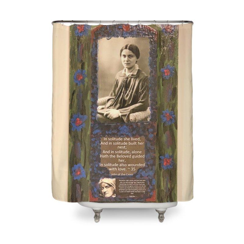St. Edith Stein -Solitude Home Shower Curtain by Mary Kloska Fiat's Artist Shop