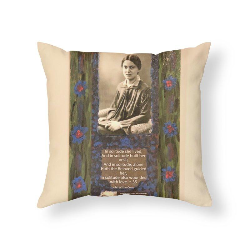 St. Edith Stein -Solitude Home Throw Pillow by Mary Kloska Fiat's Artist Shop