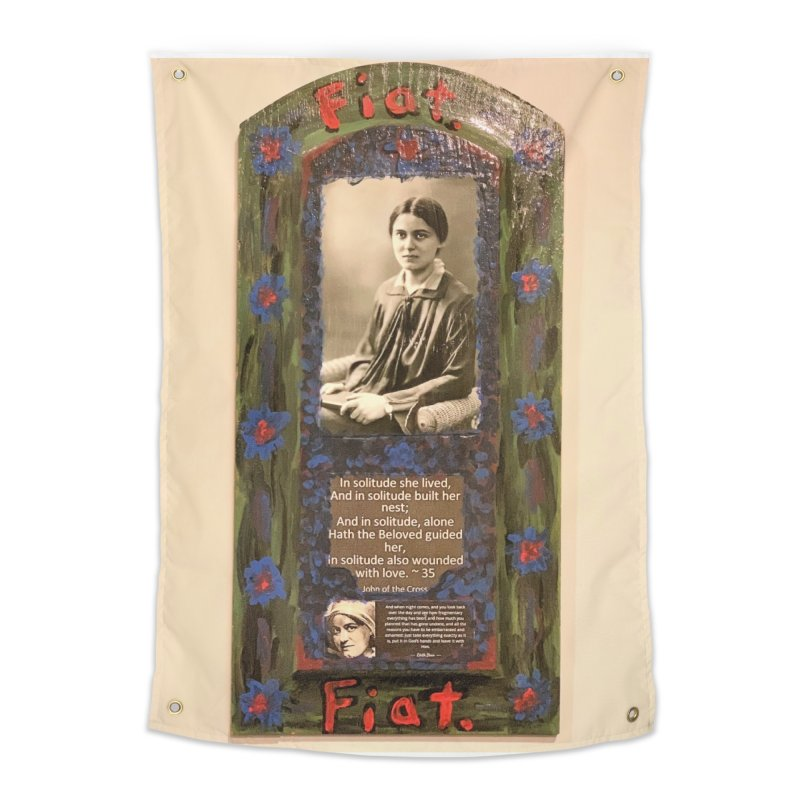 St. Edith Stein -Solitude Home Tapestry by Mary Kloska Fiat's Artist Shop