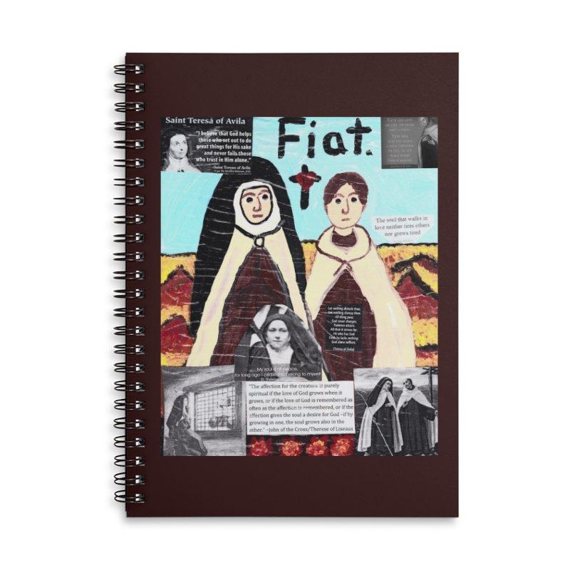 Spiritual Friendship Accessories Notebook by Mary Kloska Fiat's Artist Shop