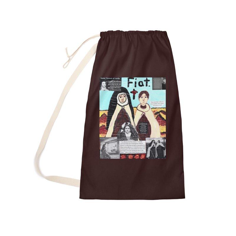 Spiritual Friendship Accessories Bag by Mary Kloska Fiat's Artist Shop