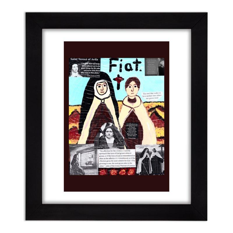 Spiritual Friendship Home Framed Fine Art Print by Mary Kloska Fiat's Artist Shop