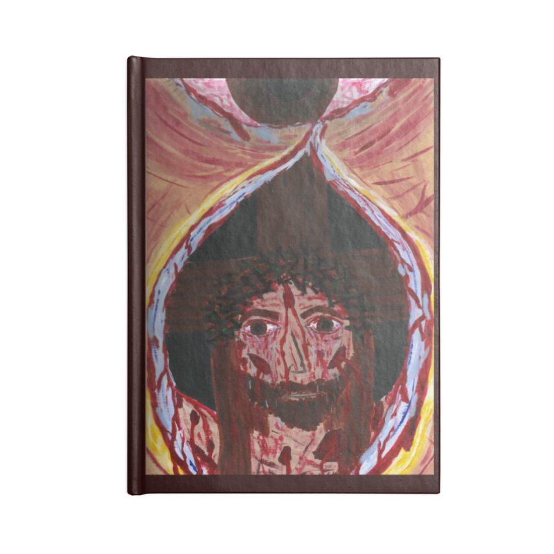One tear of Jesus Crucified Accessories Notebook by Mary Kloska Fiat's Artist Shop