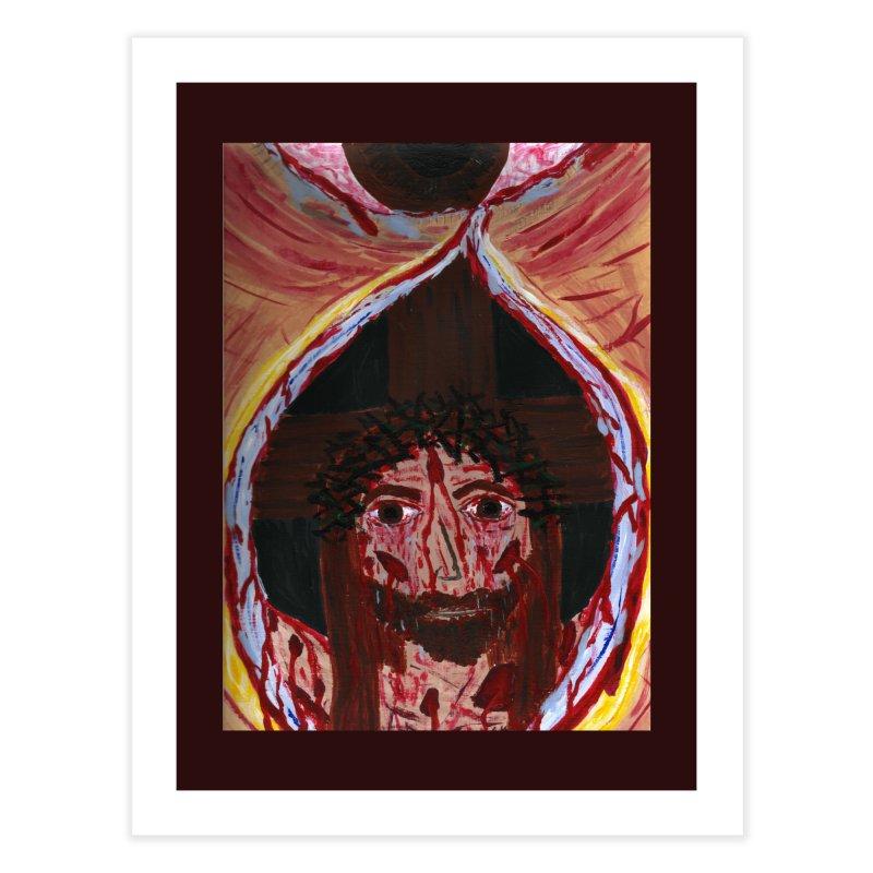 One tear of Jesus Crucified Home Fine Art Print by Mary Kloska Fiat's Artist Shop