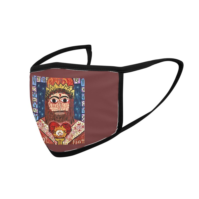 Jesus Christ the King, the Eternal High Priest Accessories Face Mask by Mary Kloska Fiat's Artist Shop