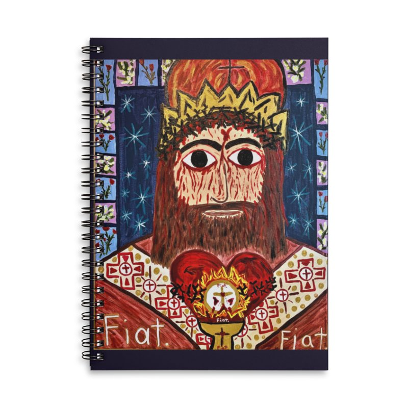 Jesus Christ the King, the Eternal High Priest Accessories Notebook by Mary Kloska Fiat's Artist Shop
