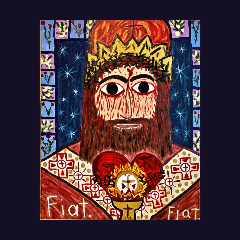 Jesus Christ the King, the Eternal High Priest Home Fine Art Print by Mary Kloska Fiat's Artist Shop