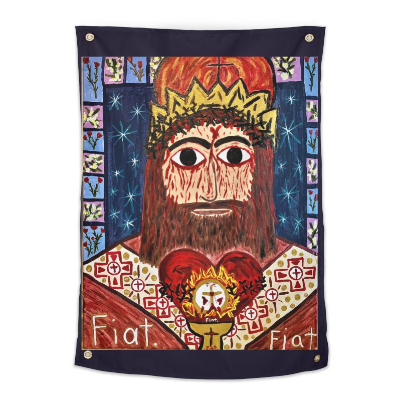 Jesus Christ the King, the Eternal High Priest Home Tapestry by Mary Kloska Fiat's Artist Shop